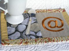 Mug rug, coaster, snack mat, keen on computer. - pinned by pin4etsy.com