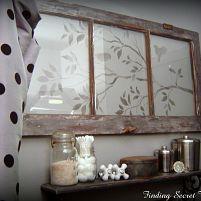 Stencil on an old window
