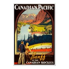 Canadian Rockies - Vintage Railway Travel Poster