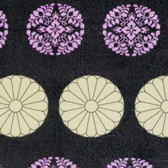 Amy Butler - Alchemy Velveteen - Pressed Flowers in Zinc
