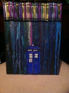 Maid a doctor who / melted crayon art thing lol