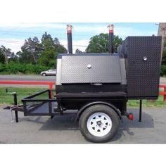 Charcoal Smoker, Wood Charcoal, Box Trailer, Utility Trailer, Homemade Smoker, Concession Trailer, Smoke Grill, Pizza Ovens, Smoker Recipes