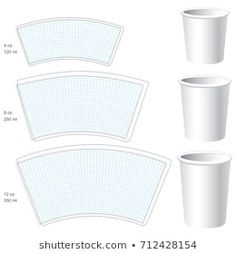 Find Paper Cup Vector Blank Templates 3 stock images in HD and millions of other royalty-free stock photos, illustrations and vectors in the Shutterstock collection. Cone Template, Mug Template, Paper Box Template, Templates Printable Free, Hand Built Pottery, Slab Pottery, Ceramic Pottery, Pottery Patterns, Pottery Designs