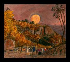 paintings of harvest moon images   Expert art authentication, certificates of authenticity and expert art ...