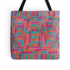 'Magenta, Orange, Turquoise design' Tote Bag by ValMyburgh Orange And Turquoise, Using Acrylic Paint, Dresses With Leggings, Paint Designs, Poplin Fabric, Iphone Wallet, Laptop Sleeves, Decorative Throw Pillows, Magenta