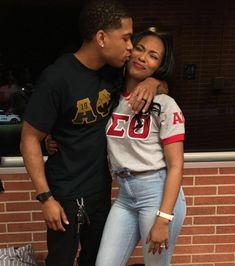 His dream girl Alpha Kappa Alpha Sorority, Delta Sigma Theta, Black Fraternities, College Looks, Delta Girl, Sorority And Fraternity, Young Black, Black Love, Black Girl Magic