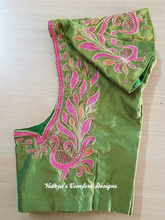Bridal Blouse Designs done at Vidhya's Comfort Designs, Besant Nagar, Chennai Contact - 9003020689