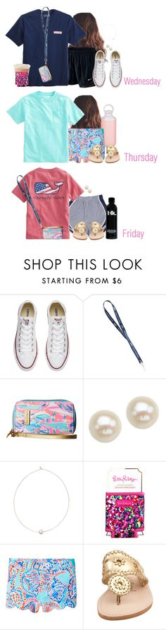 """First days of school"" by aweaver-2 ❤ liked on Polyvore featuring NIKE, Converse, Lilly Pulitzer, Honora, Shop Latitude Bazaar, Contigo and Jack Rogers"