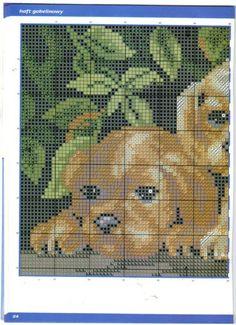 Puppies Cross Stitch Pattern