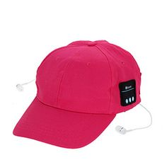 AUSID Bluetooth Baseball Cap, Bluetooth Canvas Hat, Outdoor Sport Bluetooth V3.0+EDR Stereo Music Hat Wireless Earphone Speakers for IPhone Samsung Android Phones, Christmas Gifts (Red). The product integrates the fashionable Sun-bonnet and Bluetooth Headset which is equipped with built-in speaker and microphone, supports hands-free function.Simply connect the Bluetooth Music Hat with smart phone, Tablet PC and other Bluetooth-enabled devices via Wireless Bluetooth Technology. V3.0+EDR...