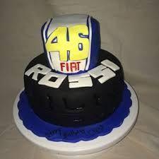 Afbeeldingsresultaat voor cake valentino rossi Bike Cakes, Valentino Rossi, Desserts, Food, Tailgate Desserts, Deserts, Essen, Postres, Meals