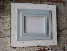 Items similar to Wide Wood Uber Distressed Wood Frame Crown Trim in Tradewinds and Whitewash Frame on Etsy Distressed Frames, Rustic Frames, Frame Crafts, Diy Frame, Marco Diy, Old Picture Frames, Wood Panel Walls, Diy Arts And Crafts, How To Distress Wood