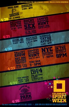 Poster Design: Spirit Week by Aisha Qureshi, via Behance