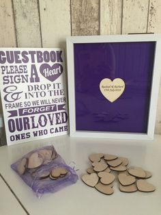 Personalised drop top guest book package by TheGuestbookCo