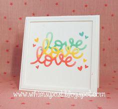 A Beautiful Scripty Love Card by Elise! | the Lawn Fawn blog | Bloglovin'