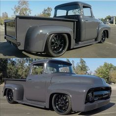 Vintage Trucks Classic Kustom pick-up Classic Pickup Trucks, Old Pickup Trucks, Old Ford Trucks, Ford Classic Cars, Chevrolet Silverado, Custom Trucks, Custom Cars, Pickup Auto, Auto Ford