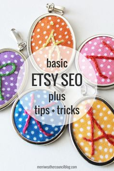 Basic Etsy SEO - Even if you think you know the basics, take a look anyway, you never know. This is how I've always dealt with SEO and this is in line with Etsy's guidelines.