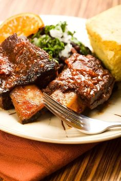 Beer Braised Short Ribs ~ unlike their pork counterpart, are larger, meatier, and generally more tender.