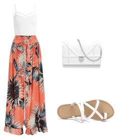 """""""maxi shirt"""" by osliany ❤ liked on Polyvore featuring Sans Souci and ADRIANA DEGREAS"""