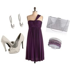 Purple dress with silver accents