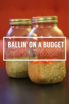 Ballin' on a Budget: Crafting for your Sorority Little