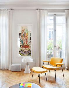 Arte y decoración, la pareja perfecta. En el apartamento parisino de Sandra Benhamou  FOTOS: Ariadna Bufí http://www.muudmag.com/spa/pagina/519-la-casa-de-la-interiorista-Sandra-Benhamou-en-Paris