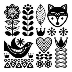 Hungarian Embroidery Patterns Finnish folk art pattern - Scandinavian, Nordic style, black and white - - Millions of Creative Stock Photos, Vectors, Videos and Music Files For Your Inspiration and Projects. Hungarian Embroidery, Folk Embroidery, Learn Embroidery, Embroidery Patterns, Japanese Embroidery, Christmas Embroidery, Flower Embroidery, Scandinavian Embroidery, Scandinavian Pattern