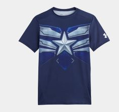 "Mens' Under Armour® Alter Ego Compression Shirt - Captain America (new ""Winter Soldier"" movie uniform)"