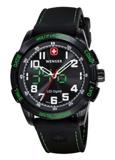 Wenger Men's 70433 Nomad Compass Green LED Black Silicone Strap Watch Wenger, http://www.amazon.com/dp/B003VY4HYC/ref=cm_sw_r_pi_dp_Wkdrqb0ZRGQV3