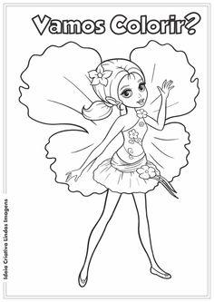 Ideia Criativa Lindas Imagens: Barbie Thumbelina desenho para colorir