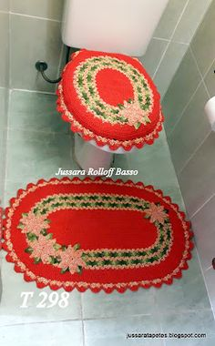 Jussara tapetes: Jogo de banheiro alegria - T 298 (com PAP)