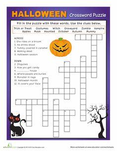 Worksheets: Halloween Crossword Puzzle #3