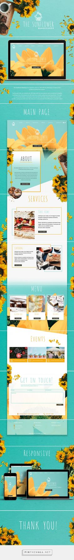 The Sunflower Bakeshop Web Design by Natasha Reddy