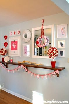 keeping it simple with red and white!