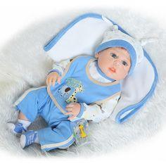 98.99$  Buy here - http://aliwae.worldwells.pw/go.php?t=32786969910 - 58CM Soft Silicone Reborn Baby Dolls Full Boy Body Vinyl Realistic Doll Reborn Bebe Alive Dolls Brinquedos Bonecas Kids Gifts