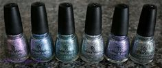 China Glaze Prismatic Chroma Glitters - Via Scrangie. #nails
