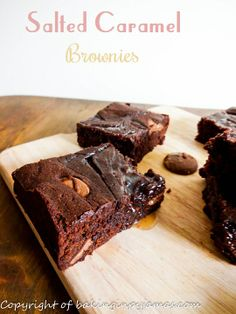 Salted Caramel Brownies@Baking In Pyjamas