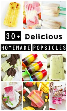 These homemade popsicles are delicious and easy to make. Also the perfect summer treat! #diy #recipes #momlife #popsicles #homemade #dessert #summerfun