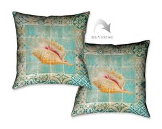 Shell Tiles II Throw Pillow
