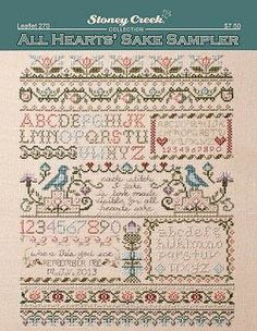 """""""All Heart's Sake Sampler"""" is the title of this cross stitch pattern from Stoney Creek."""