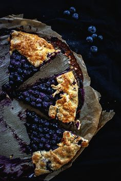 Blueberry Galette by Agnieszka Krach #recipe