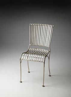 Sleek Industrial style dining chair.