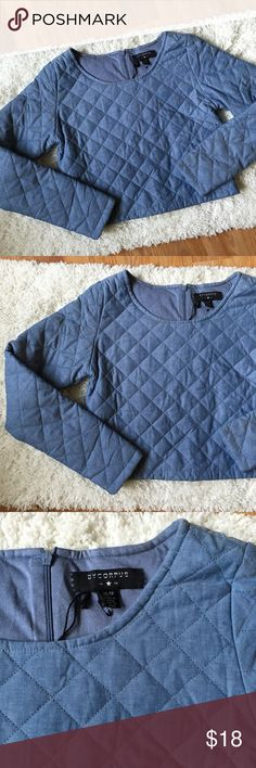 Urban Outfitters Quilted Chambray Top Brand new without tags! The brand is By Corpus from Urban Outfitters. Urban Outfitters Tops