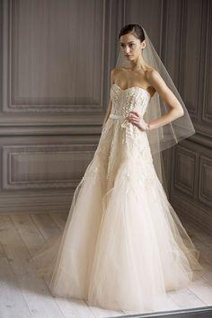 Monique Lhuillier Wedding Dresses Romance 2012