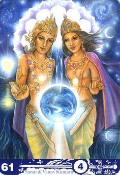 Tarot Aura Soma - 61 - Sanat and Venus Kumara