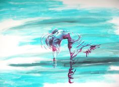 Dancer 3, acrylic paint