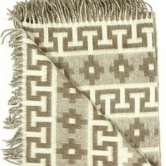 Peruvian Alpaca & Merino Wool Reversible Luxury  Ethnic Design Throw