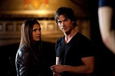 Still of Ian Somerhalder and Nina Dobrev in The Vampire Diaries