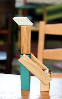 Tegu magnetic blocks giraffe, plus more creativity inspired by this toy.