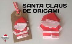 Santa Claus de Origami y tags Navideños | Manualidades